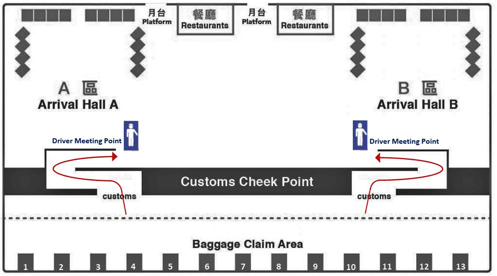 Designated meeting point